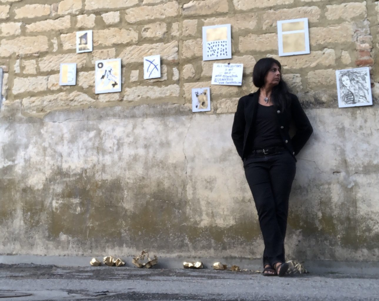 Flavia Testa artist in Monferrato, Italy.